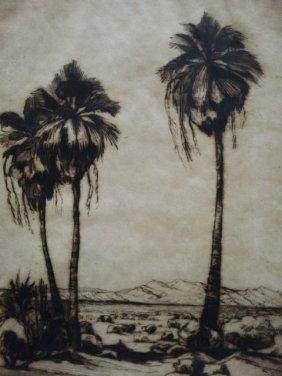 Desert Palms (lithograph) P811