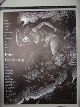 Fritz Eichenberg (1901-1990) Gallery Poster 1977 Ap406