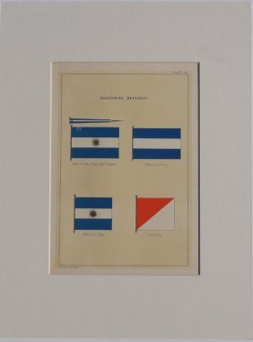Nautical Flags Of Argentina, 1882