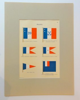 Nautical Flags Of France, 1882