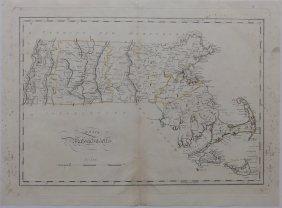 Map Of Massachusetts, Martha's Vineyard & Nantucket