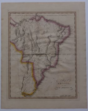 Map Of Brazil & Buenos Aires, 1815