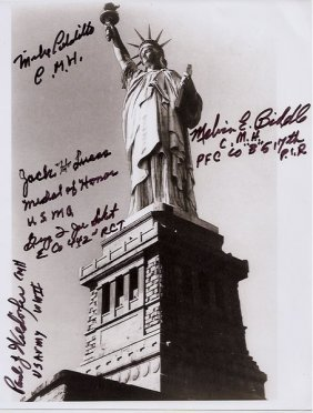Exceptional Statue Of Liberty: Five Medal Of Honor
