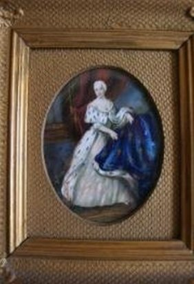 Charming Hand Painted Ivory Portrait