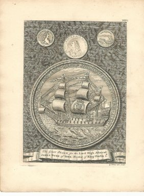 1753 Vertue Engraving Great Seal Admiralty
