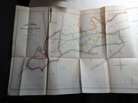 C1847 Report Of Great Western Railway With Colored