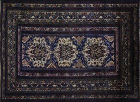 Balouch Collection Blue 6'x9' Afghan Hand Knotted Wool