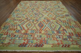 7'x10' Tribal Collection Oriental Kilim Flat Weave Hand