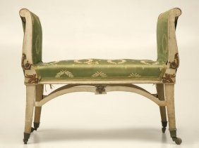 Antique French Butler's Bench