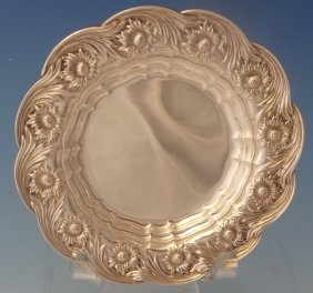 Chrysanthemum By Tiffany Sterling Butter Pat Plate