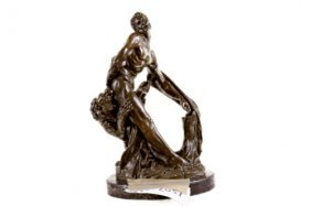 Hand Holding Each Other Bronze Sculpture On Marble Base