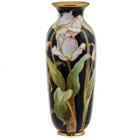 Royal Doulton Burslem Tulips Vase In Enamels And Gold,