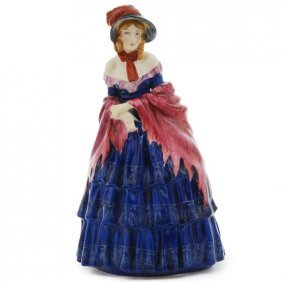 "Royal Doulton Figurine A Victorian Lady Hn736, H. 7.75"""
