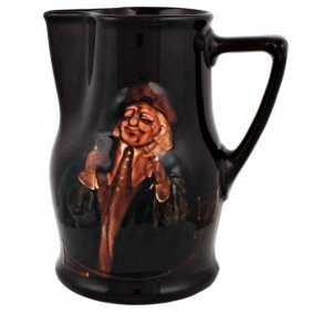 "Royal Doulton Kingsware Hogarth Jug D1363, H. 8"""