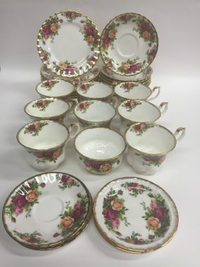 34 Royal Albert Tea Service Pieces