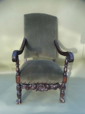 Spanish Revival Angelus Furniture Co. High Back Parlor