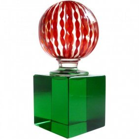 Paolo Venini Murano Signed Paperweight