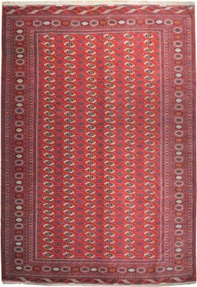 "11x16 Handmade ""elephant Foot"" Mori Bokhara Rug Red"