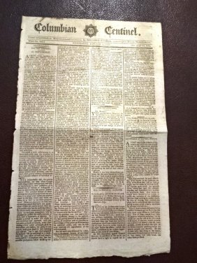 1792 Newspaper Indian War And George Washington