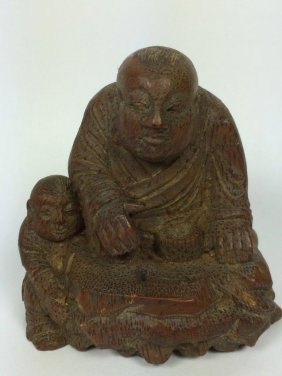 Carved Bamboo Figure