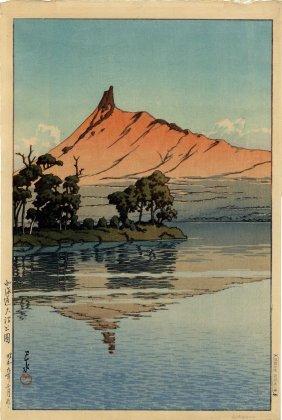 Hasui Kawase - Mount Komagatake From Onuma Park,