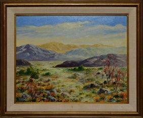 """western Mountains,"" O/ab, Signed George Coblentz Ll"