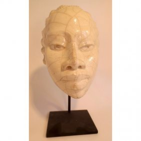 Gene Pearson Raku Face Of Black Female