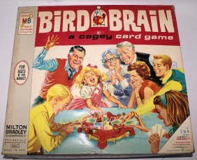 Vintage 1966 Bird Brain Cagey Card Game By Milton