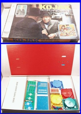 Vintage 1975 Kojak Stake Out Detective Board Game By
