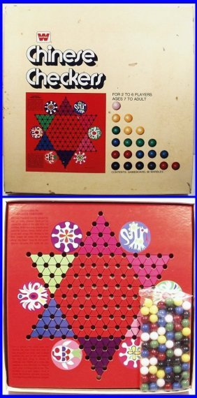 Vintage 1974 Chinese Checkers By Whitman Publishing, A