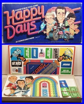 """Vintage Parker Brothers Happy Days """"fonzie's Really"""
