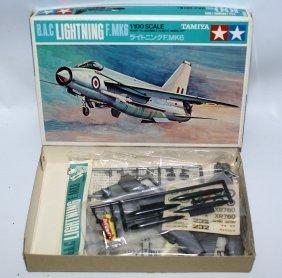 Vintage Tamiya 1:100 B.a.c Lightning F. Mk6 Plane