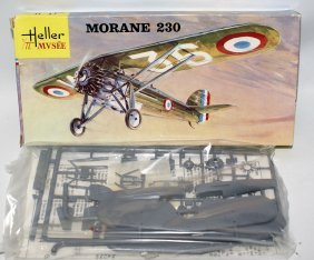 Vintage Heller 1:72 Scale Morane 230 Wwii French