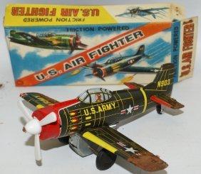 Vintage Ka Japan Tin Litho Friction Powered Us Army