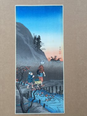 Late Autumn In A Village By Hiroaki Takahashi ( Shotei