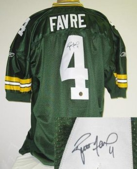 Brett Favre Autographed Authentic Green Bay Packers