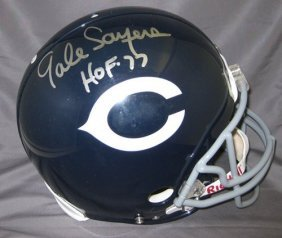 Gale Sayers Autographed Chicago Bears Proline Helmet