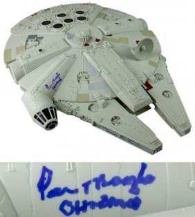 Peter Mayhew Signed Hasbro Star Wars Millenium Falcon