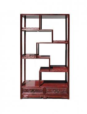Chinese Rosewood 8 Treasure Curio Display Cabinet
