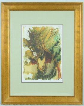 "Salvador Dali ""alexander's Horse Offset Print"