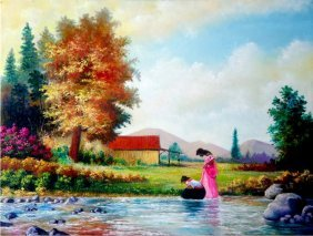 Redeeming Waters-oil On Canvas Original Serafin