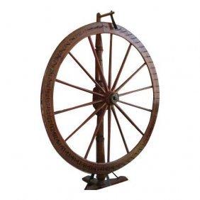 Superb Antique American Folk Art Carnival Wagon Wheel