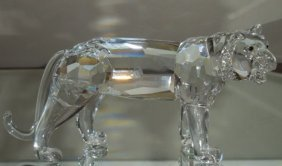 Rare Signed Swarovski Crystal Tiger Retired Nr