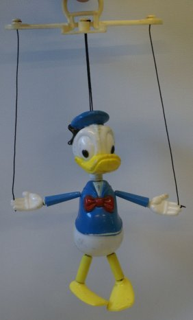 Vintage 1970's Donald Duck Marionette, Walt Disney