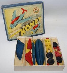 Vintage Wooden Comet Model Construction Set Komet