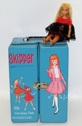 Vintage 1974 Skipper Carrying Case With 1975 Sun Lovin
