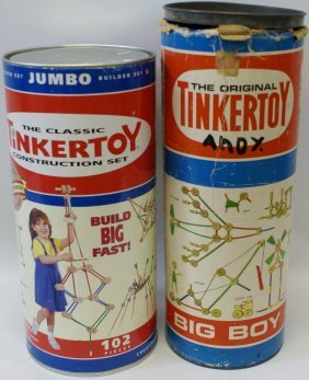 Lot Of 2 Interchangeable Tinkertoy Construction