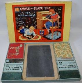 Vintage 1950's Chalk And Slate Set #3102 In Original