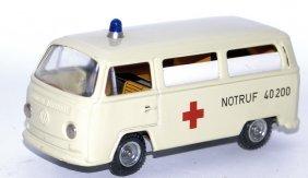 Vintage Friction Tin Kellerman Cko #402 Ambulance Vw