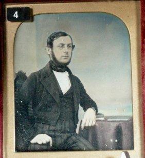 Hand Tinted Daguerreotype Of An English Gentleman